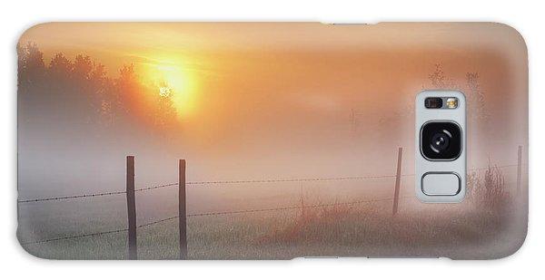 Sunrise Over Morning Pasture Galaxy Case