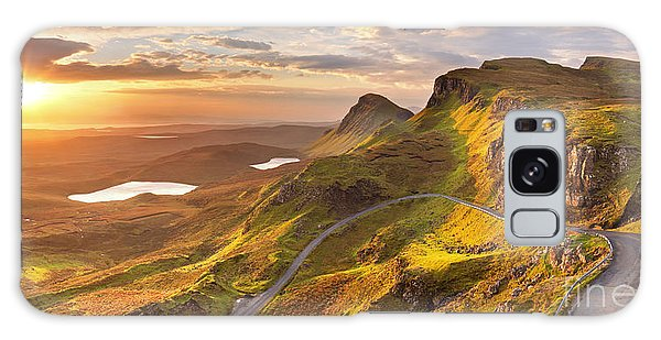 No People Galaxy Case - Sunrise Over The Quiraing On The Isle by Sara Winter