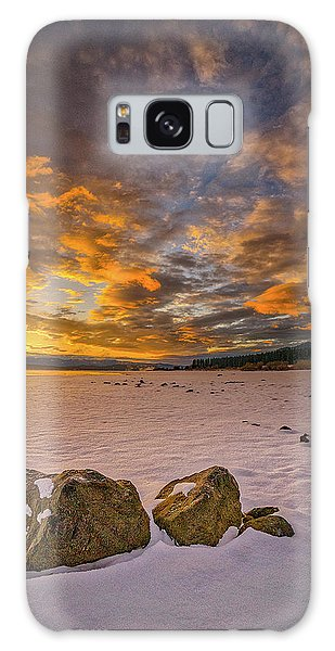 Sunrise Rocks Galaxy Case