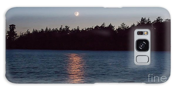Sunset And Moonrise Galaxy Case