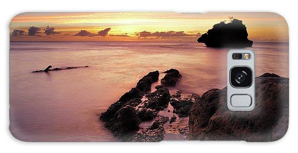 Sunset At Columbus Bay Galaxy Case