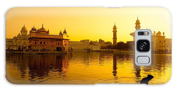 Bath Galaxy Case - Sunset At Golden Temple In Amritsar by Szefei