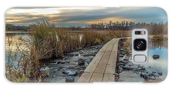 Sunset At Purgatory Creek Galaxy Case