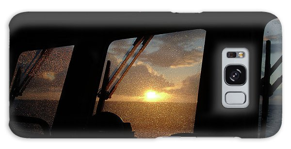Sunset At Sea Galaxy Case