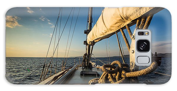 Navigation Galaxy Case - Sunset At Sea On Aboard The Yacht by Zhukov Oleg