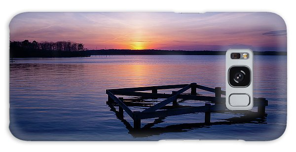 Sunset At The Reservoir  Galaxy Case