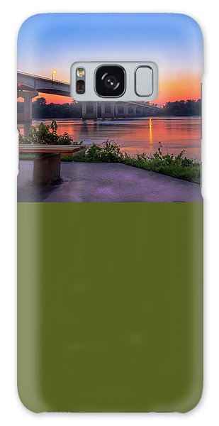 Sunset At The River Park Galaxy Case