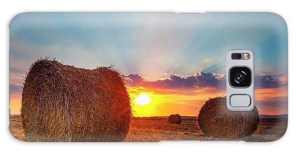 Sunset Bales Galaxy Case
