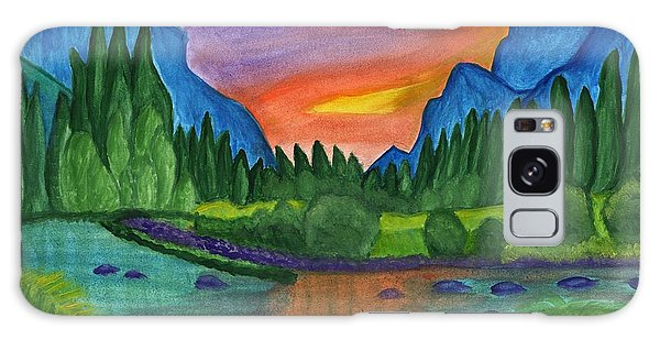 Sunset By The River Galaxy Case