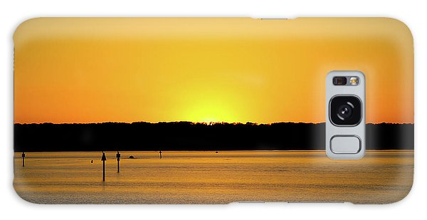 Sunset From National Harbor Galaxy Case