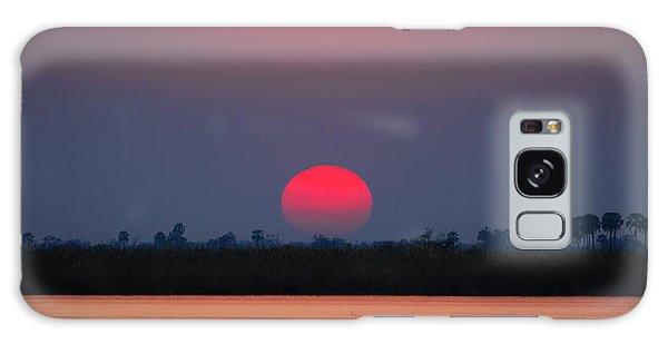 Sunset In Botswana Galaxy Case