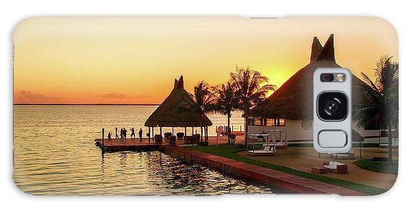 Sunset In Cancun Galaxy Case
