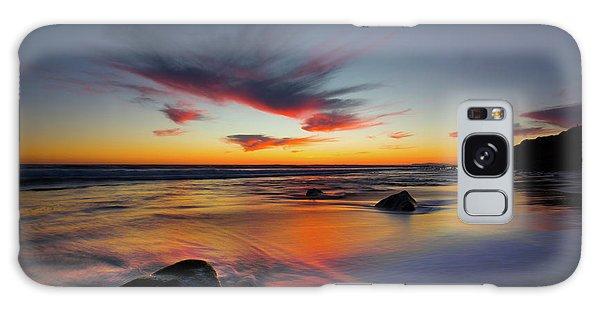 Sunset In Malibu Galaxy Case