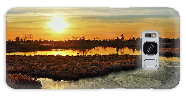 Sunset In Pitt Meadows Galaxy Case