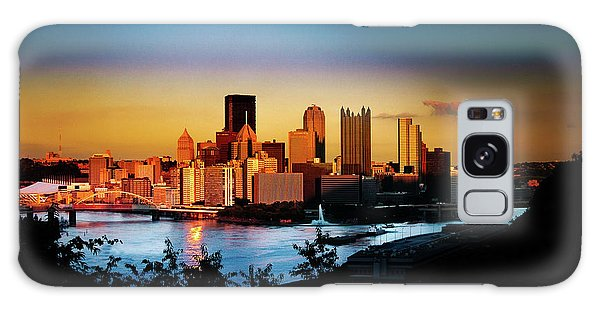 Sunset In The City Galaxy Case