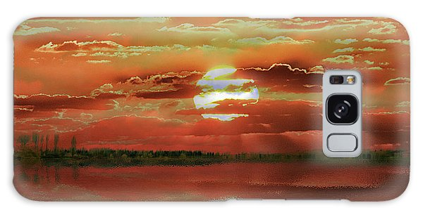 Galaxy Case featuring the photograph Sunset Lake by Bill Swartwout Fine Art Photography