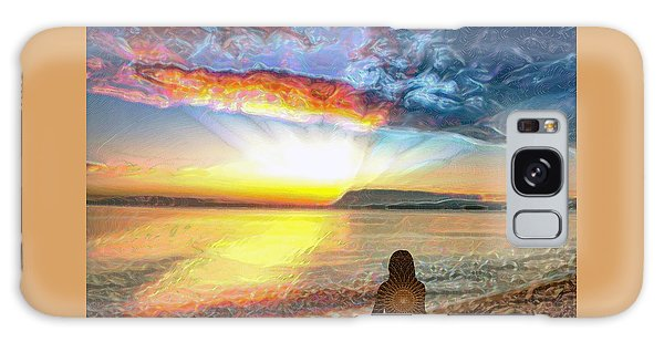 Sunset Meditation Galaxy Case
