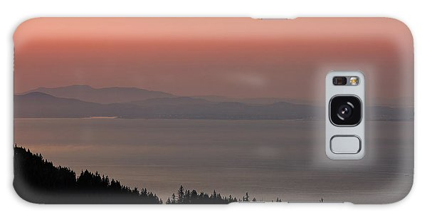 Sunset Of The Olympic Mountains Galaxy Case