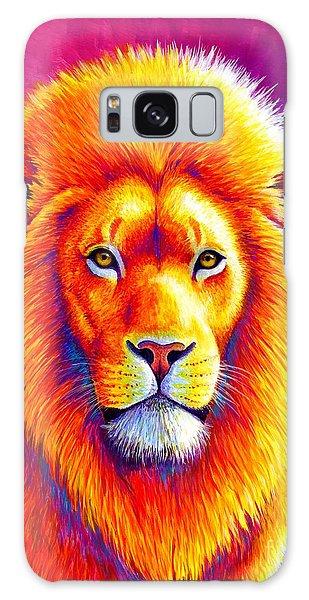 Sunset On The Savanna - African Lion Galaxy Case