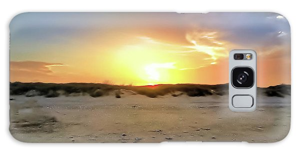 Sunset Over N Padre Island Beach Galaxy Case