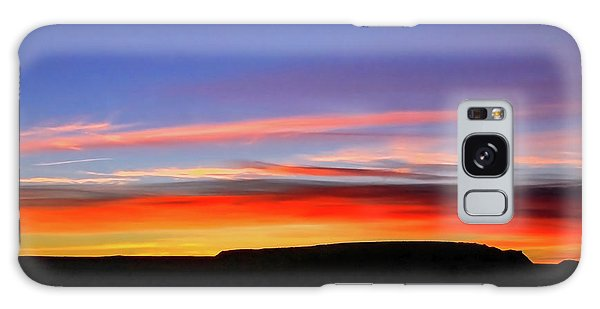 Sunset Over Navajo Lands Galaxy Case