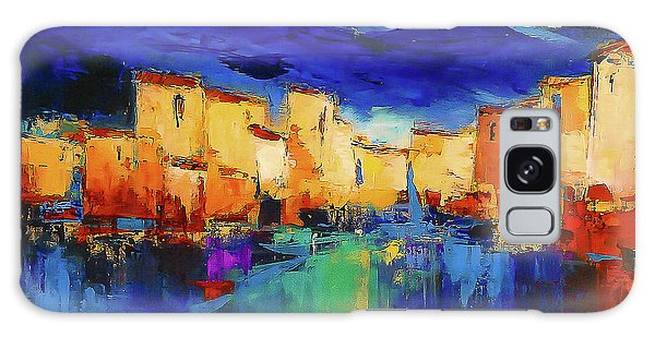 Reflections Galaxy Case - Sunset Over The Village by Elise Palmigiani