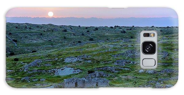 Sunset Over Um A-shekef, Israel Galaxy Case