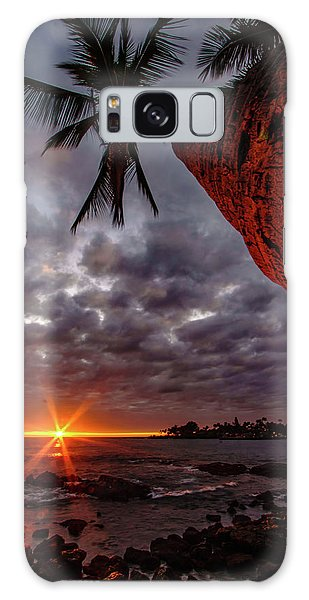 Sunset Palm Galaxy Case