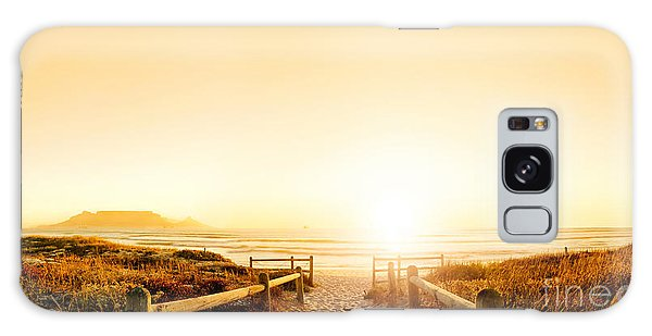 Dawn Galaxy Case - Sunset Panorama Hdr Of A Beach Near by Daxiao Productions