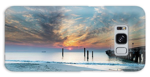 Sunset Seascape And Beautiful Clouds Galaxy Case