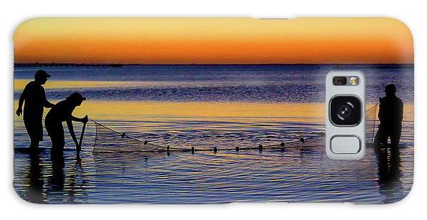 Sunset Seining On Copano Bay Galaxy Case