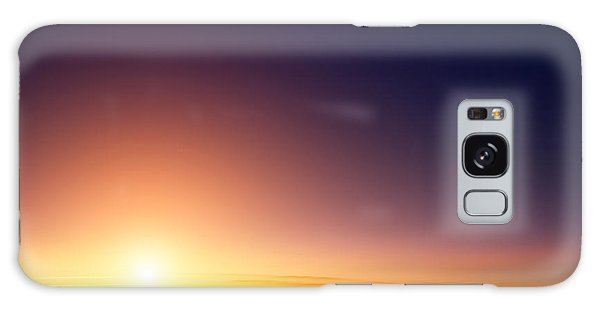 Horizontal Galaxy Case - Sunset Sky Stratosphere Background by Logoboom
