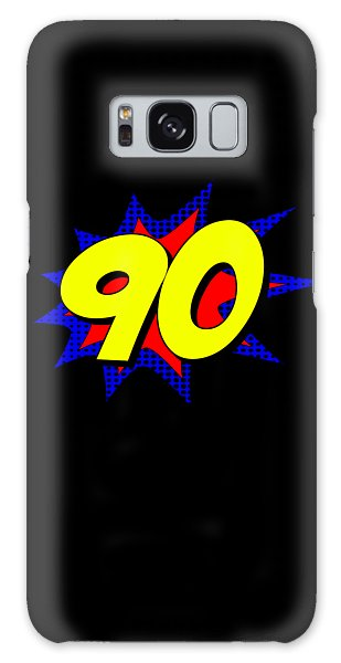 Superhero 90 Years Old Birthday Galaxy Case