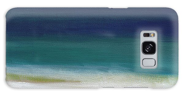Interior Galaxy Case - Surf And Sky- Abstract Beach Painting by Linda Woods