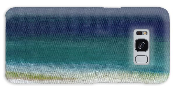 Cloud Galaxy Case - Surf And Sky- Abstract Beach Painting by Linda Woods