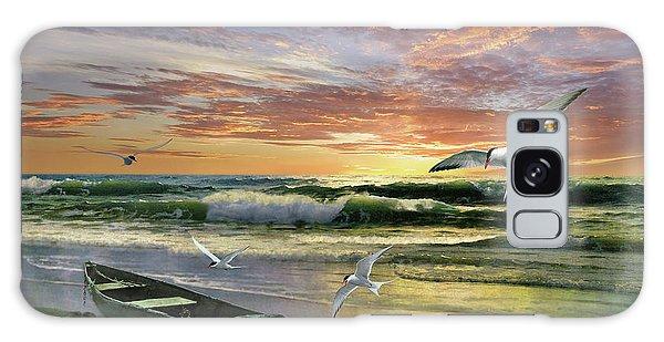 Surf At Sunrise Galaxy Case