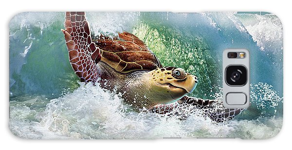 Turtle Galaxy Case - Surf To The Turf by Jerry LoFaro