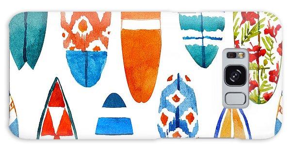 Board Galaxy Case - Surfboard Watercolor Seamless Pattern by Nicetoseeya