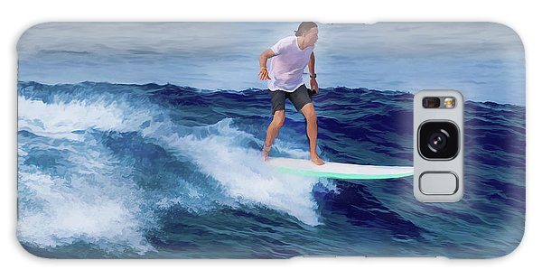 Galaxy Case featuring the painting Surfing Andy by Deborah Boyd