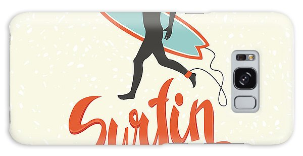 Board Galaxy Case - Surfing Calligraphy In Vector. Surfing by Nicetoseeya