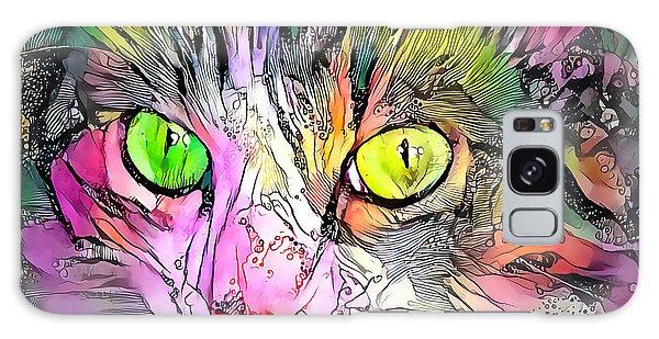 Surreal Cat Wild Eyes Galaxy Case