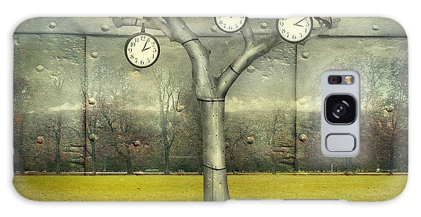 Metal Leaf Galaxy Case - Surreal Illustration Of Many Clock And by Valentina Photos