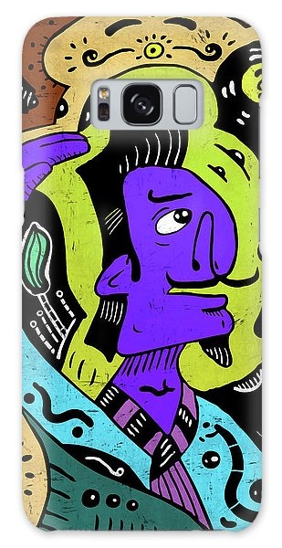 Galaxy Case featuring the digital art Surreal Painter by Sotuland Art