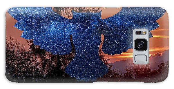 Sunset Owl Galaxy Case