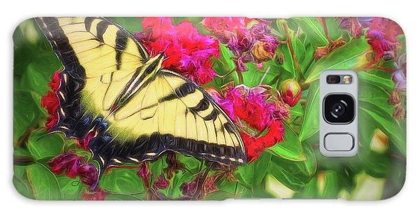 Swallowtail Among Flowers Galaxy Case