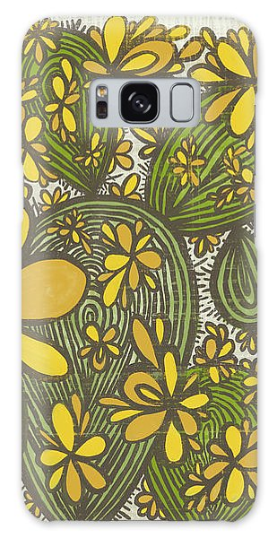 Sweet April Showers Do Bring May Flowers Thomas Tusser Quote Galaxy Case