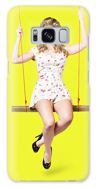 Vivacious Galaxy Case - Swing Pinup Girl With Beauty Make-up And Hairstyle by Jorgo Photography - Wall Art Gallery