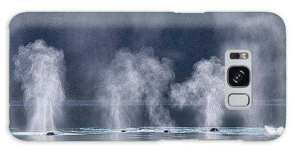 Galaxy Case featuring the photograph Synchronized Swimming Humpback Whales Alaska by Nathan Bush
