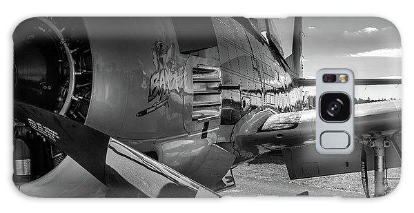 Galaxy Case featuring the photograph T-28b Trojan In Bw by Doug Camara