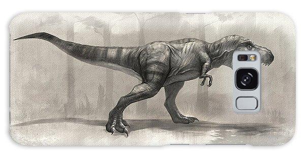 T-rex Drawing Galaxy Case